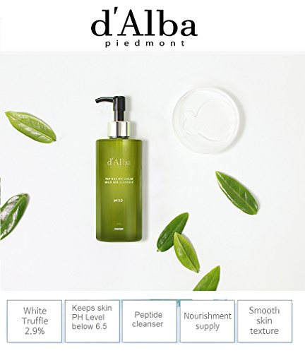 D'Alba Peptide No-Sebum Mild Gel Cleanser for Acne prone sensitive and dry skin