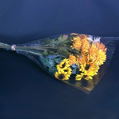 Stem Tapered Clear (Clear Cut Flower Bouquet Sleeves - 20