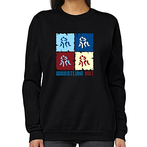 Teeburon Wrestling Art Women Sweatshirt by Teeburon
