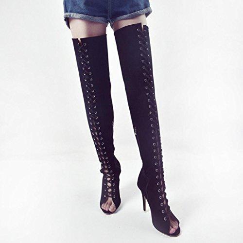de Pour hunpta Ville Femme Noir Chaussures à Lacets U7qxCAwq
