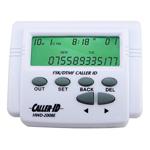 OLLGEN Dual Signal FSK/DTMF Phone Call Box Caller ID Display Without Call Blocker (White)