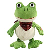 Houwsbaby Croaking Frog Musical Stuffed Animal Frolick Meadow Froggy Shaking and Waving Electronic Interactive Animate Plush Toy, 12 inches (Green)