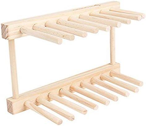 Tolyneil - Escurreplatos de madera de pino, multifuncional ...