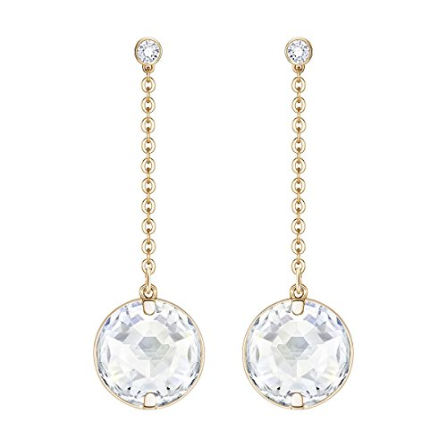 Swarovski Globe Pierced Earrings, White (Swarovski Globe)