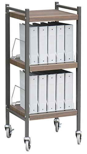 Mini Open Chart Rack 3 Shelves 10 Binder Capacity (Woodgrain) by Omnimed