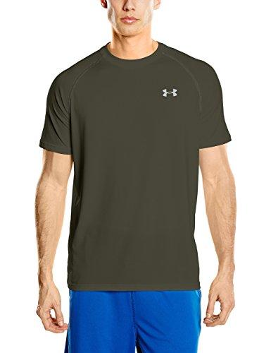 Under Armour Men's Tech S/S T-Shirt Artillery Green / Steel / Steel XL & Visor