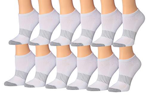 Tipi Toe Women's 12-Pairs Low Cut Athletic Sport Peformance Socks, (sock size 9-11) Fits shoe size 6-10,WS14
