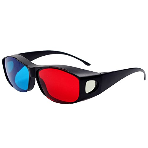 Red Blue universal type 3D Glasses TV Movie Dimensional Anaglyph Framed 3D Vision Glasses High Quality