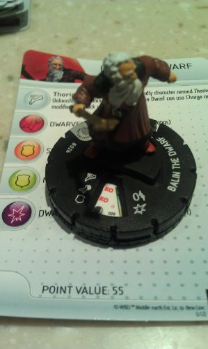 The Hobbit Lord of the Rings Heroclix Balin the Dwarf TARGET EXCLUSIVE