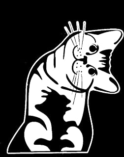 product image for Keen Cat - Whatcha Doin? - I Can Haz? - Car Vinyl Decal Sticker | 6 X 5 in