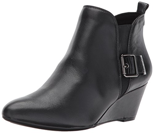 Ankle Height Leather Boots (Anne Klein Women's Anni Leather Ankle Boot, Black, 7.5 M US)