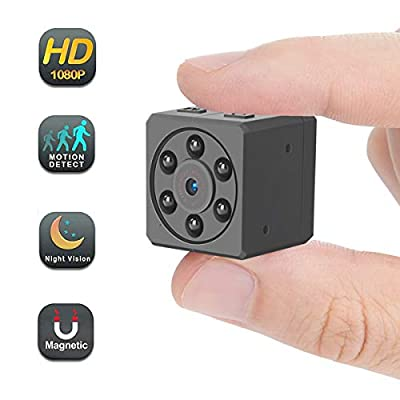 Mini Hidden Spy Camera,1080P Small HD Nanny Cam Portable Video Recorder with Night Vision Motion Detection Security Surveillance for Home, Car, Drone, Office by Luckmall