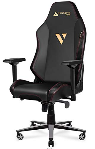 Gtracing-Premium-Gaming-Chair-Big-and-Tall-350lbErgonomic-Computer-Chair-with-Recliner-Swivel-Tilt-4D-Armrests-High-Backrest-Rocker-Seat-Height-Adjustment-Mechanisms-Black