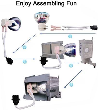 Loutoc Proyector Lámpara de Repuesto para Bare Bombilla de ...