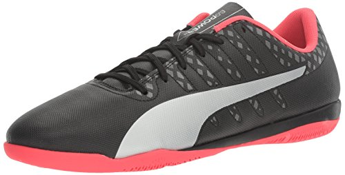 14 Firm Ground Soccer Shoes - PUMA Men's Evopower Vigor 4 IT Soccer Shoe, Black Silver/Quiet Shade/Bright Plasma, 14 M US