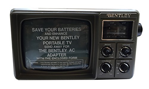 BENTLEY Deluxed Portable 5-Inch Black & White Television, TV