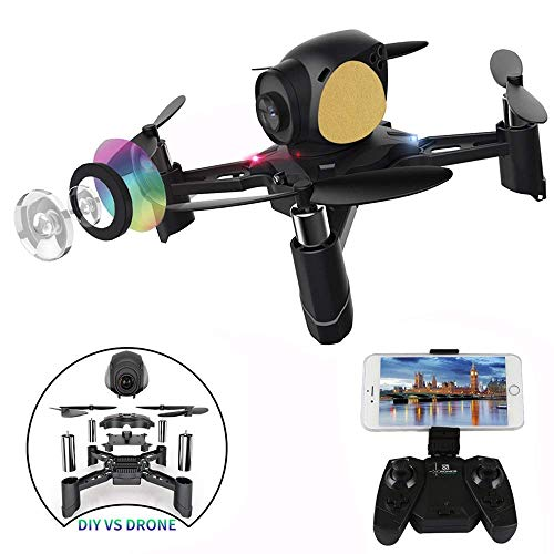 Remote Control Quadcopter, ASGO S7 DIY WiFi RC Drone with 2MP Camera and Real-time Picture Transmission from ASGO