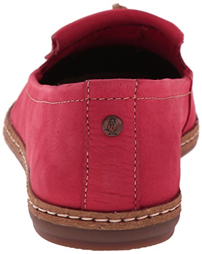 Hush Puppies Womens Adena Piper Slip-on Loafer Rött Läder