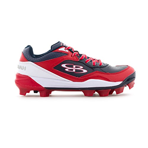 Boombah Women's Endura Molded Cleats Navy/Red - Size 9.5