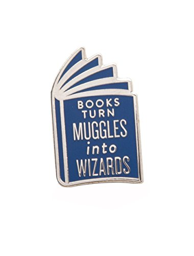 Out of Print Harry Potter Books Turn Muggles into Wizards Enamel Pin from Out of Print