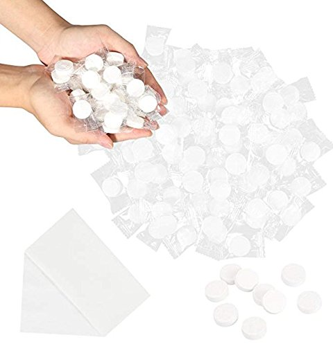 LareinaXXX 100pcs Portable Mini Rayon Disposable Compressed Towel Camping Wipe Coin Tissue Toliet Paper Towel for Travel/Home/Outdoor ()
