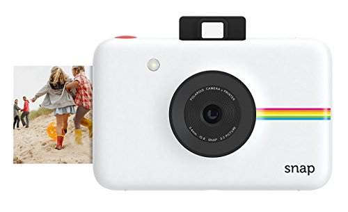 Digital Point And Shoot Film Camera - Polaroid Snap Instant Digital Camera (White) with Zink Zero Ink Printing Technology