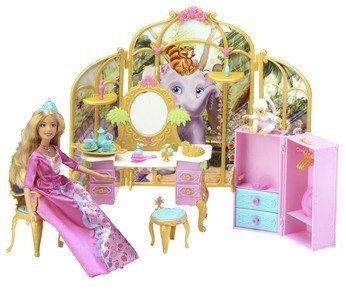 Barbie as Princess Rosella Castle Suite with Tallulah and Friends Toy Playset -