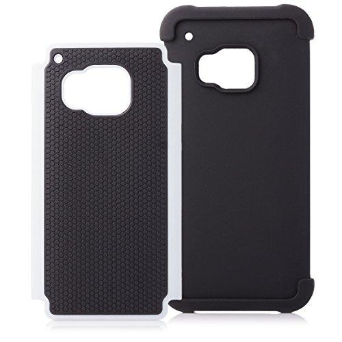 HTC One M9 | iCues Última Protección caja blanca | Caso duro al Air libre grueso a prueba de golpes militares Lifeproof hombres, niños piel protectora de protección [protector de pantalla, incluyendo] Outdoor Blanco