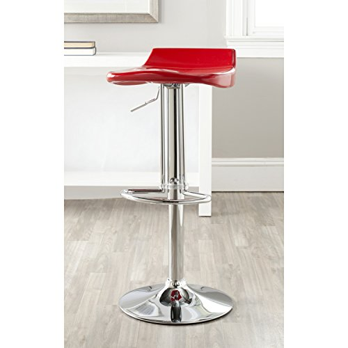 Red Gas Lift Stools - Safavieh Home Collection Avish Red Adjustable Swivel Gas Lift 23.6-32.1-inch Bar Stool