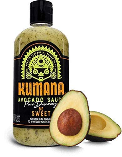 (Kumana Avocado Sauce - Mom's Secret Recipe. A Vibrant South American Sauce Made with Ripe Avocados, Mango, Parsley & Garlic. Paleo Friendly & Keto Approved. No Sugar)
