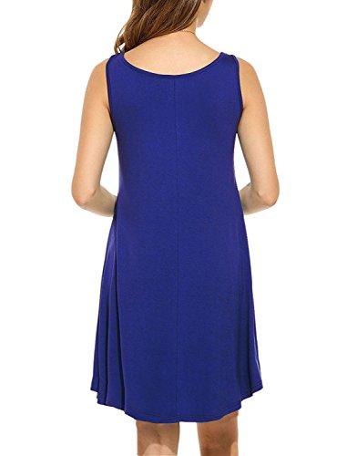 Molerani Donne Blu T Oscillazione Vestito Casuale Di Allentato shirt royal 0 Semplice 6PqOH