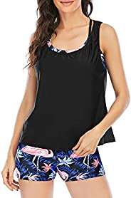Passionate Adventure Bathing Suit for Women Swimming Suit 3 Pieces Tankini Swimsuits Plus Size
