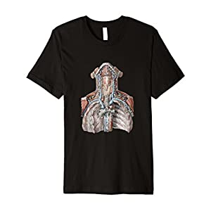 Vintage Human Anatomy Torso with Throat and Chest T-Shirt