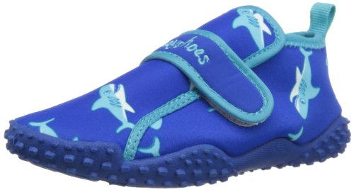 Playshoes Boys UV Protection Shark Collection Aqua Swimming/Beach Shoes (11.5 M US Little Kid) by Playshoes (Image #1)