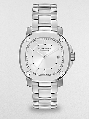 Burberry Watch, Men's Swiss Automatic The Britain Stainless Steel Bracelet 43mm BBY1204