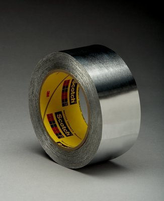 3M 433L Aluminum Tape - 2 in Width x 3.5 mil Total Thickness - Flame Retardant - 49780 [PRICE is per CASE]