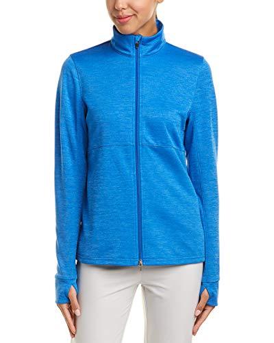 (PUMA Golf 2018 Women's Heather Full Zip Outwear, Nebula Blue Heather, X-Small)