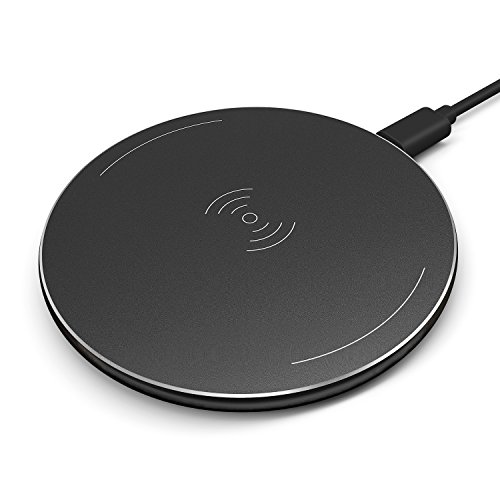 QI Wireless Charger Charging Pad, Fansteck Portable Cordless Inductive Charger for iPhone 8/8 Plus, iPhone X, Nexus 4 / 5 / 6, Galaxy S8/ S8+/ S7 / S7 edge / S6 edge+, Note 5 (Black)