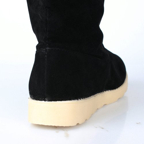 3size Girls Long Boots Christmas Fashion Women's Snow Ashcbus Winter Colors perfect Shoes Flat Black Gift 3 Warm Boot 6pxCw