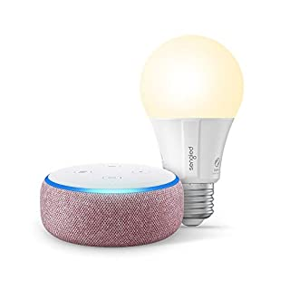 Echo Dot (3rd Gen) - Smart speaker with Alexa - Plum Sengled Bluetooth bulb (Certified for Humans product)