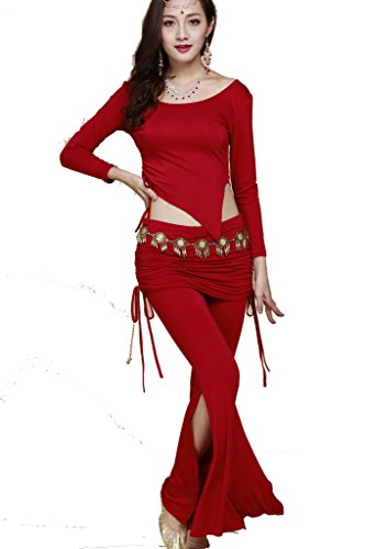 About Dance Belly Costumes (ZLTdream Belly Dance Costume Long-sleeve top & Drawstring Pants Retro Hip)