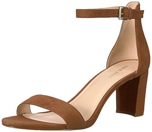 Nine West Women's Pruce Suede Heeled Sandal, Dark Natural Suede, 10 Medium US from Nine West