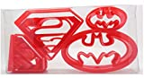 (8pcs) Super Hero Set of 4 Superman/Batman Cookie Cutter,Biscuit Cutter, Pastry, Cookie Cutter,...