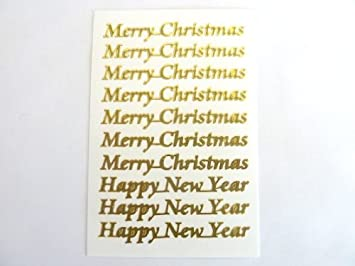 merry christmas and happy new year stickers xmas labels for craft card making