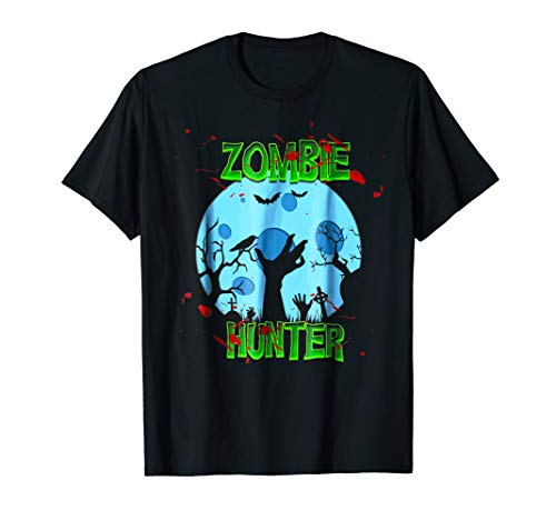 Zombie Hunter Halloween T-shirt Costume -