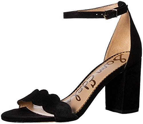 Sam Edelman Women's Odila Heeled Sandal, Black Suede, 10 M US