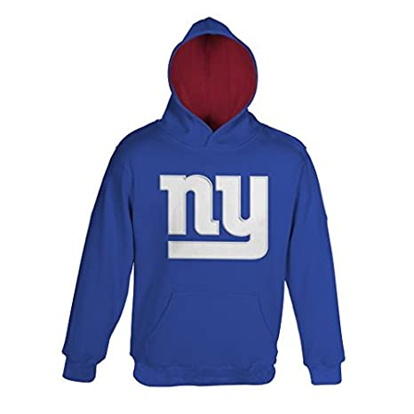NFL Youth Boys 8-20 New York GIANTS  quot PRIMARY quot  PULLOVER HOODIE - 2510a8fb9