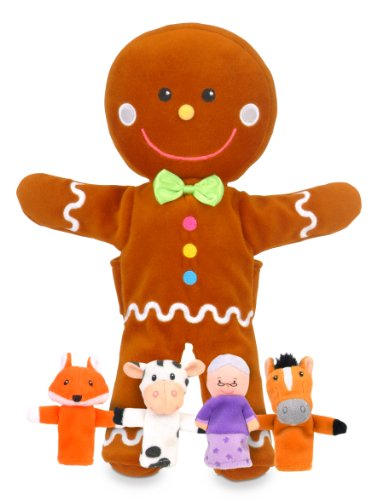 Fiesta Crafts Gingerbread Man Hand and Finger Puppet Set]()