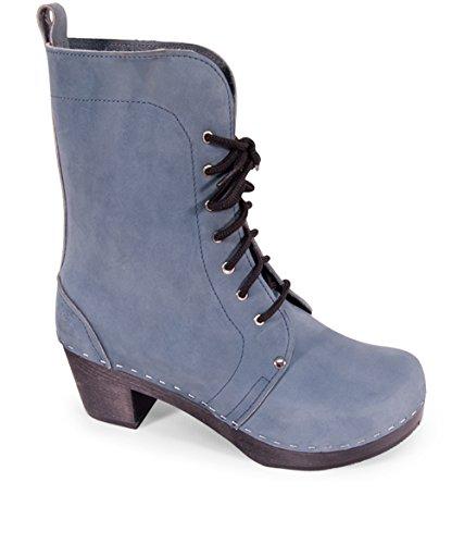 Sandgrens Swedish High Heel Wooden Clog Boots For Women | Berkeley Denim