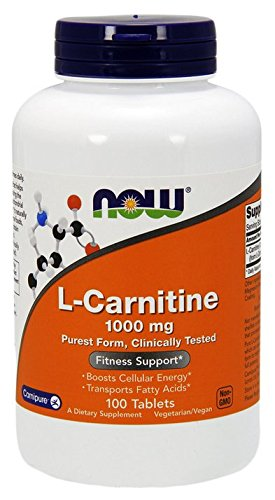 NOW L-Carnitine 1000 mg,100 Tablets by NOW Foods